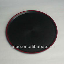 Black Large Round Serving Tray