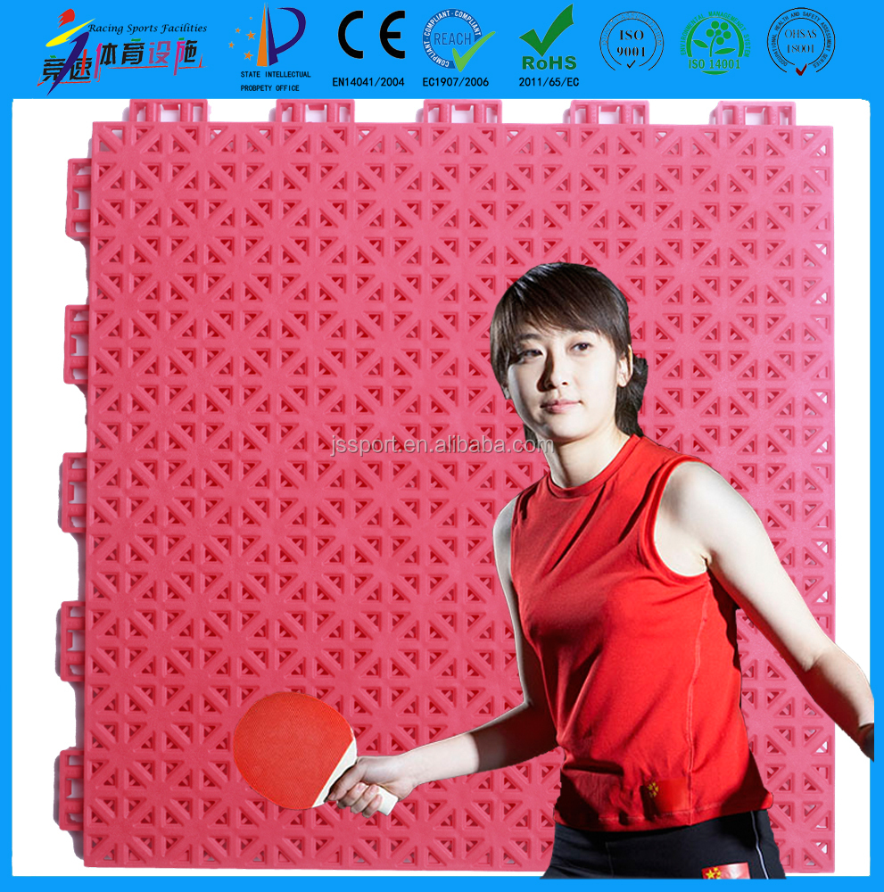 TKL250-13 better than rubber wooden PVC table tennis court flooring surface