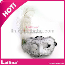 Ostrich Feather Mask For Carnival Party