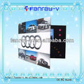 "P2017 7"" promotional lcd video greeting brochure cards, video in print"