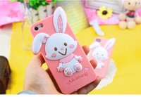 China Wholesale Cute Rabbit Ear Silicone Mobile Phone Case