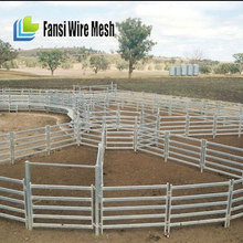 40x70mm feedlot steel pipe metal livestock panels with 6bars