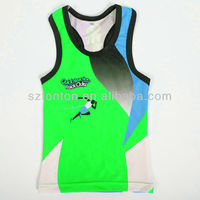 custom made green spandex running shirts