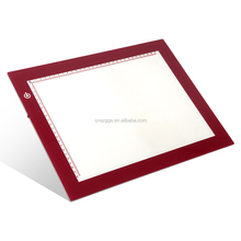 Pink Portable Artists LED Trace Light Box Tracer Drawing Board Copyboard Tracing Light Pad for Sketching