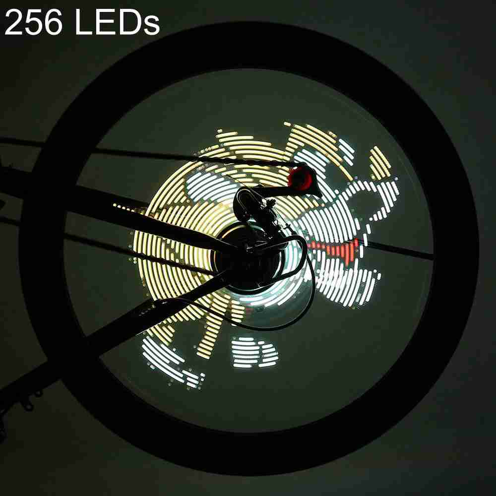 Bicycle Light 256 LEDs DIY Bicycle Waterproof Colorful Changing Video Pictures Bike Wheel Spoke Light