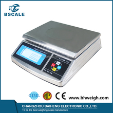 Electronic Stainless Steel OIML Price Label Printing Barcode Scale with Pole Display