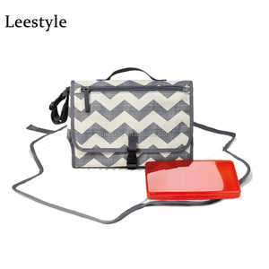 Popular Chevron Portable Baby Changing Bag Zigzag Baby Changing Pad Portable Baby Diaper Changing Station