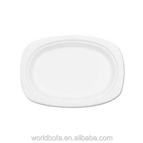 Disposable Compostable Sugarcane Bagasse Paper Oval Plate