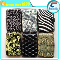 custom printing Aluminum Accordian Wallet plastic aluminum RFID blocking cards holder