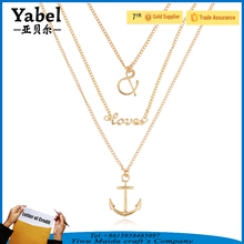 Wholesale Love Letter Anchor Infinity Necklace Fashion 3 Layer Necklace