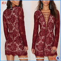 Wholesale Clothes Turkey Sexy Images Of Girls Without Clothes Long Sleeve Lace Dress