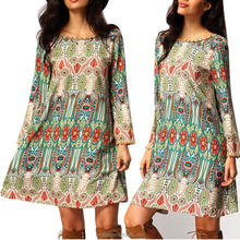 2016 factory sale Fashion Summer loose Ethnic vintage Dress