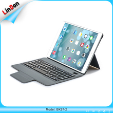 BK97-2 magnetic stand leather case for ipad 2017 new arrival bluetooth wireless keyboard