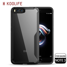 New products shockproof TPU PC transparent Back Cover cell Phone case for xiaomi mi note 3 case