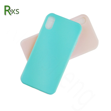 Top Quality Ultra thin Matte Candy Color Soft Silicone tpu Blank phone case for iPhone X