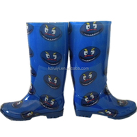 cute women print PVC overshoes,OEM jelly shoes,durable safety boots working boots