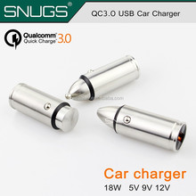 Metal 18W QC3.0 Quick Car Charger 3.0 Car Phone Charger Mini USB Car Charger Adapter Quick Charging for Iphone For Samsung