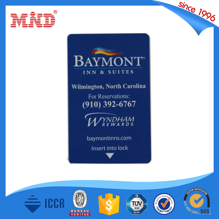 MDH297 best selling blank pvc card rfid hotel key card pvc business card for door entry system
