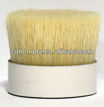 BLEACHED WHITE BOILED BRISTLES 38MM,44MM,51MM,57MM,64MM FOR ARTIST BRUSH