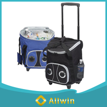 600D Polyester Rolling Speaker Picnic Cooler Bag