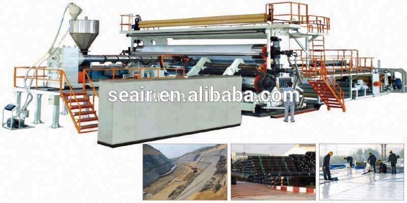 2016 Extra Wide Geomembrane / Waterproof plastic sheet extrusion machine, PVC extruder machine board extruder,profile machine