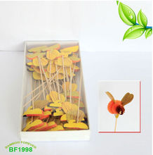 Decorative toothpicks with bee for seaside bar