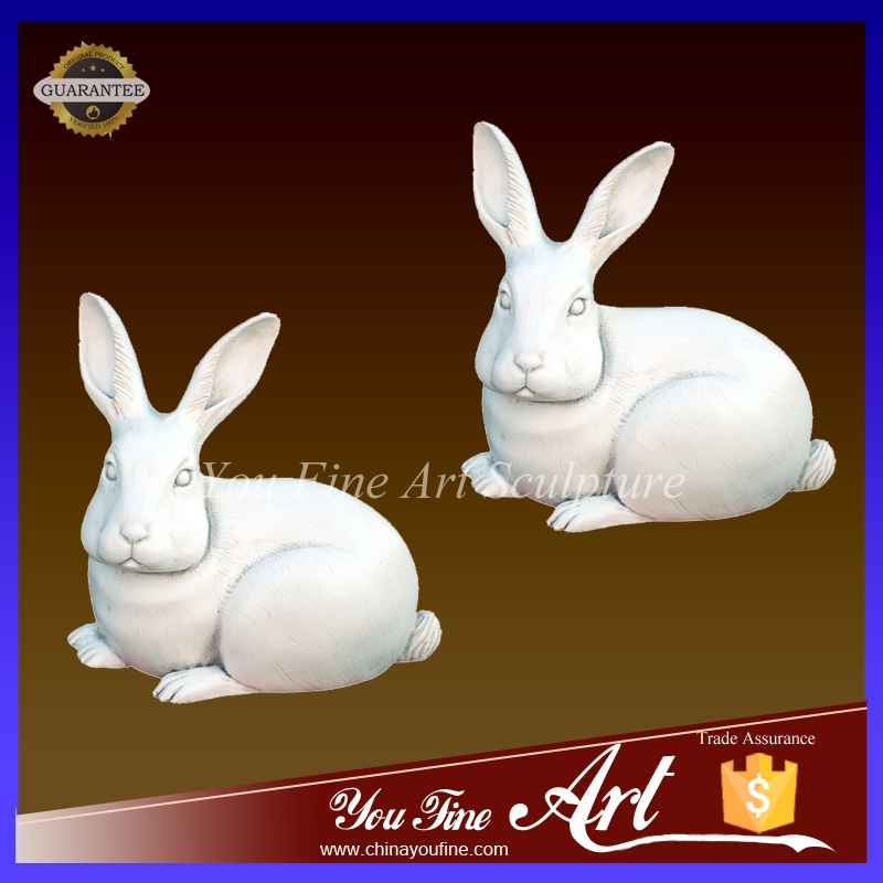 Hand carved Lovely white marble rabbit for sale