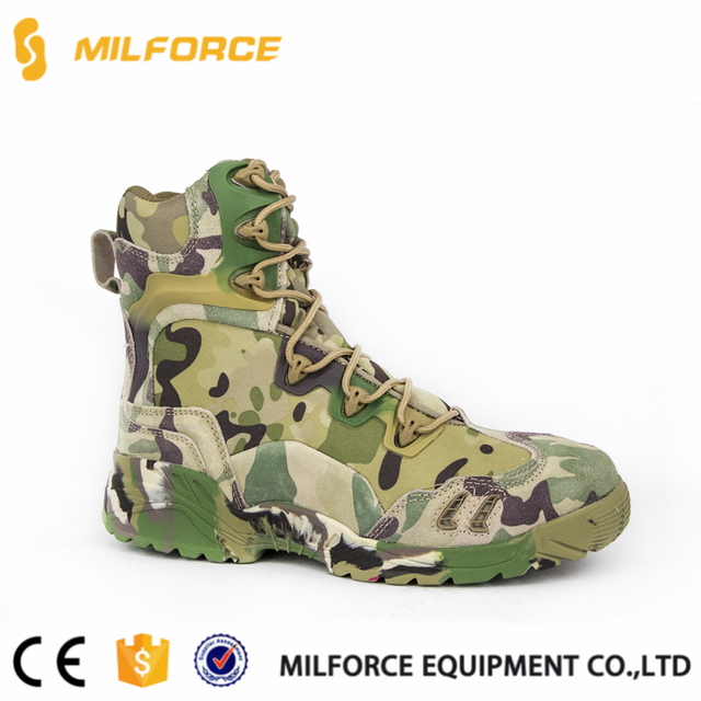 MILFORCE-army jungle hunting boots camouflage waterproof