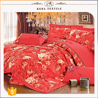China manufacturer bedding factory 100% cotton reactive printing embroidery jacquard quilt cover set