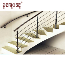 high quality curved stairs grill design/ steel metal railings