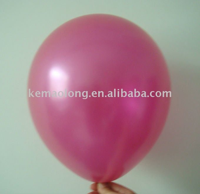 "10"" latex free balloon pearlized rose pink balloon"