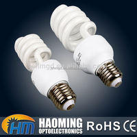 Good color rendering hotel spiral shape compact fluorescent lamps