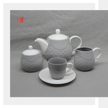 Set of 15 Gray Arabic Ceramic Tea and Coffee Set