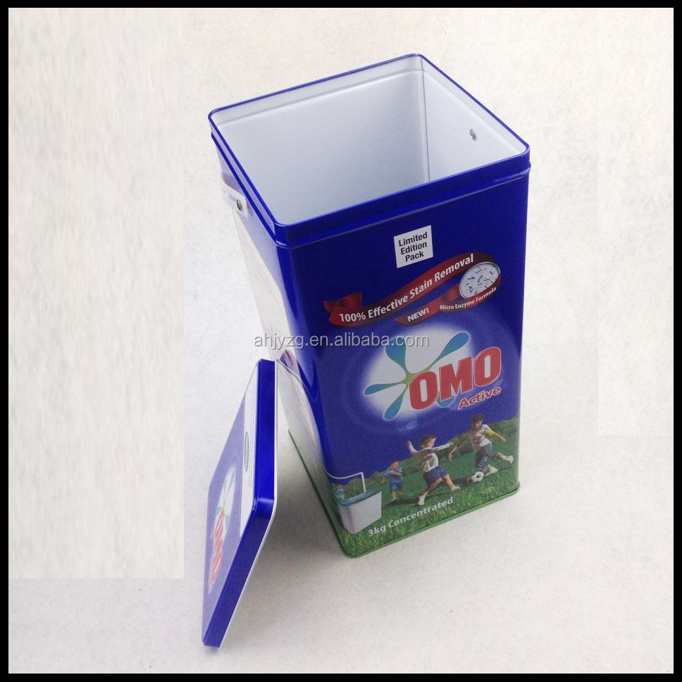 alibaba china walmart gift tin boxes for washing machine can packed 3kg washing powder