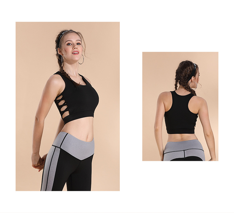 New Hollow Gym padded Activewear Seamless Yoga Top Fitness Sport Bra