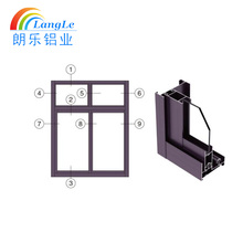Sliding window and door aluminium profile alloy extrusion for kitchen cabinet