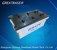 greatbase brand factory price N200- 12V 200ah lead acid dry charged car/bus/truck/tractor battery made in china