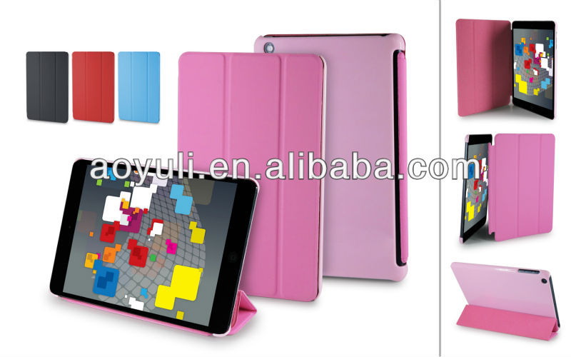 book type magnet leather case for ipad mini,for ipad mini case
