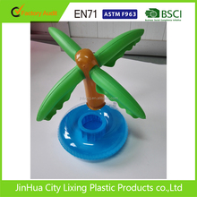 Custom pvc inflatable palm tree float cup holder cool new floating drink can holder
