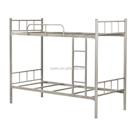 School fruniture 2 tiers steel bed metal bunk bed with space saving structure