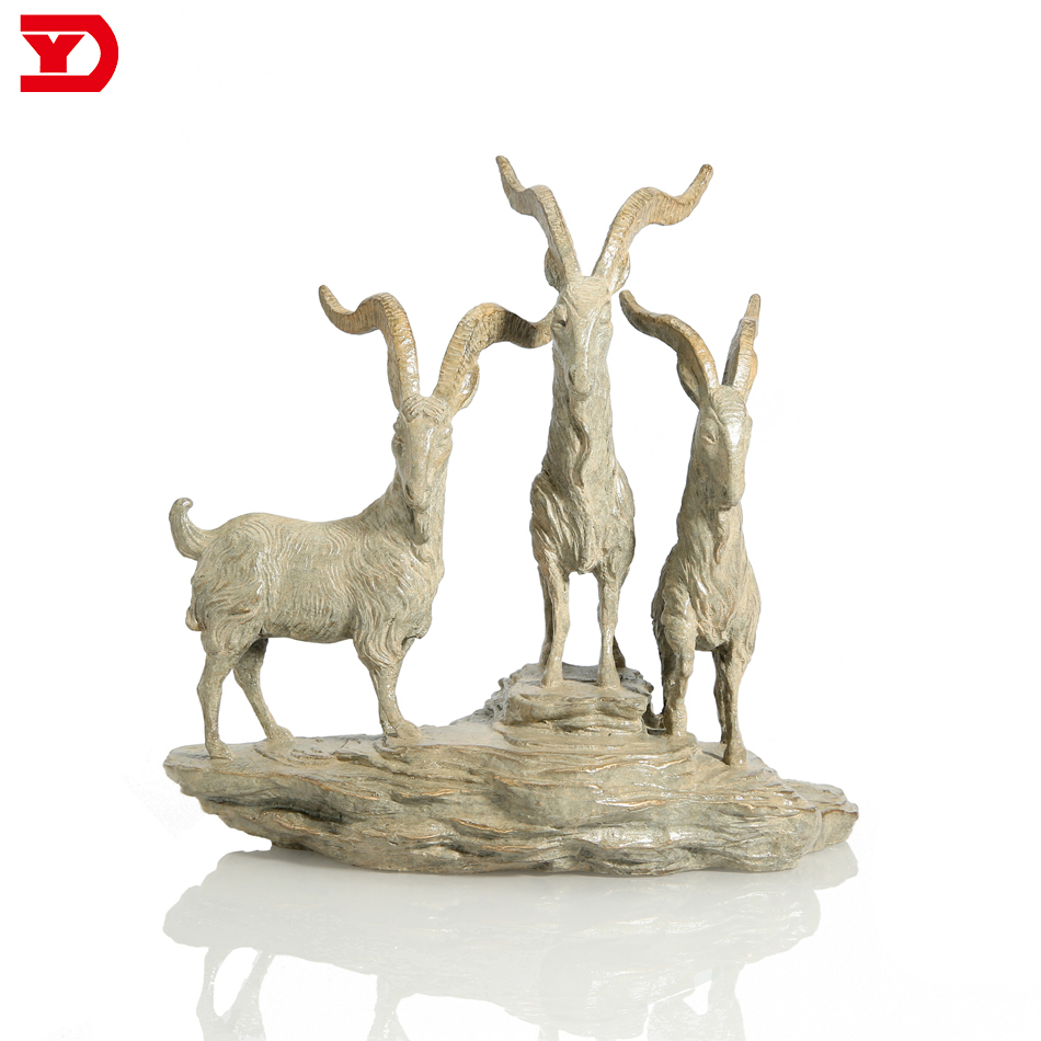 2018 new product fengshui bronze goat sculpture for sale