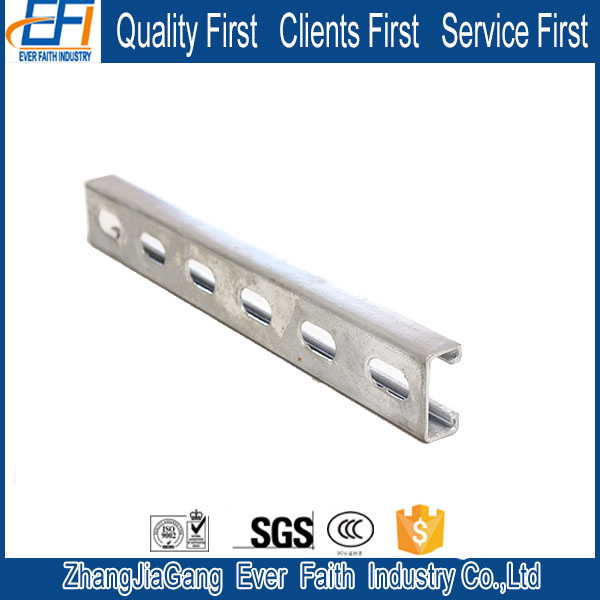 Corrosion Resistance Stainless Steel Unistrut C Channel Sizes Metric