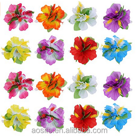 Amazon hot selling hibiscus flower hawaii hair clips