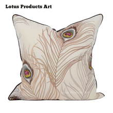 China Supplier Peacock Ethnic New Kantha Luxury Embroidered Cushion Covers