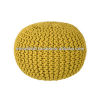 HAND KNITTED COTTON POUFS