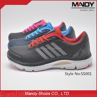 2016 new model breathable light weight air sport running shoes wholesale