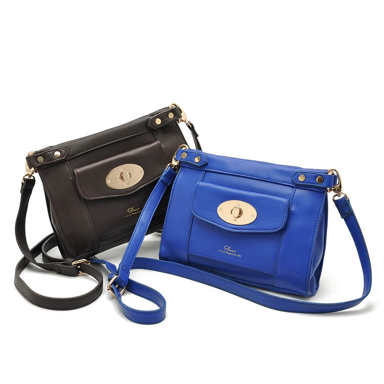 New 2015 European and American Style Crossbody Bags for Women PU Shoulder Bag Casual Motorcycle Bag Zipper Messenger Bag B50