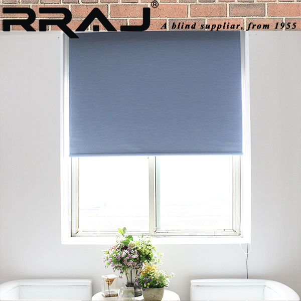 RRAJ Fabric Automatic Roll up Blinds Shade