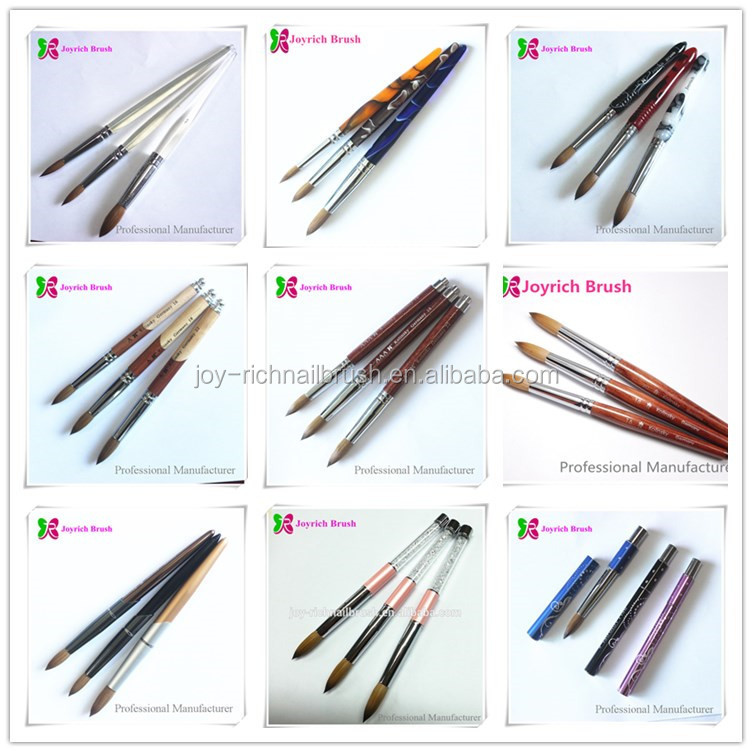 Customed Logo Or Color Kolinsky Brush Personalised Nail Art Brush ...