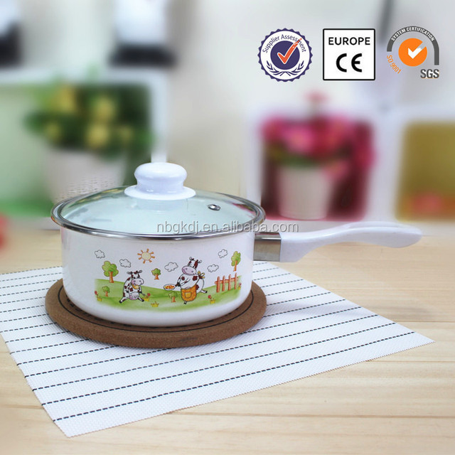 Enamelware Casserole cooking pot with mixer